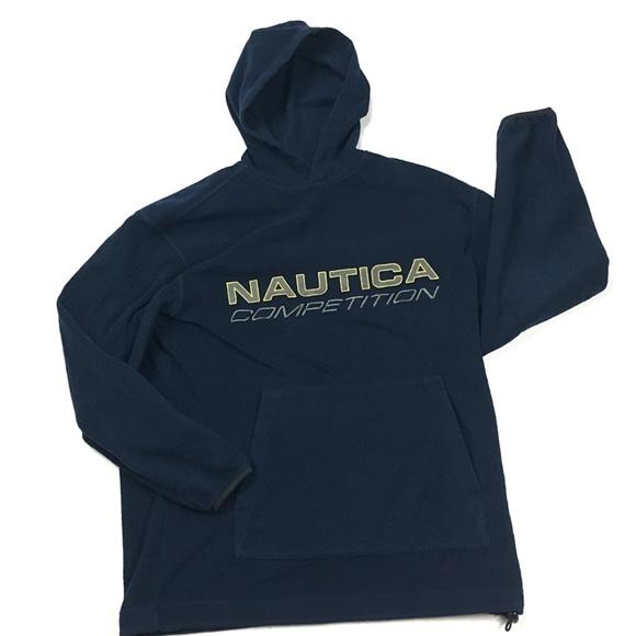80d4f66e727 Nautica Competition Navy Fleece Hoodie Sweatshirt